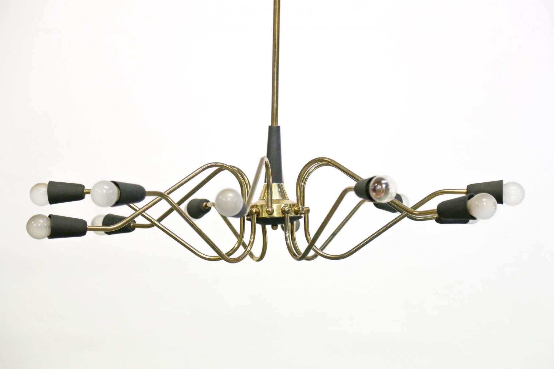 Vintage Italian Chandelier From Stilnovo For Sale At Pamono Inside Vintage Italian Chandelier (#10 of 12)