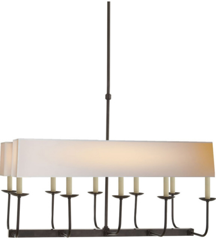 Visual Comfort Sl 5863bz Np2 E F Chapman Modern Linear Branched Throughout Branched Chandelier (#10 of 12)