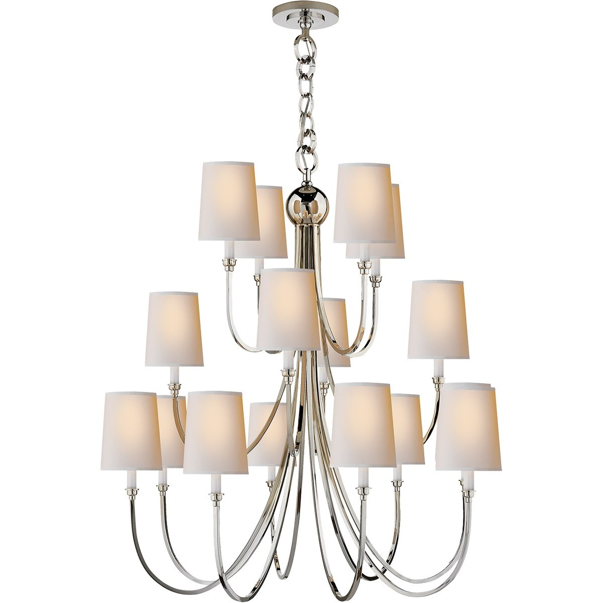 Visual Comfort Tob5019pn Np Reed 16 Light Extra Large Chandelier Intended For Extra Large Chandelier Lighting (#10 of 12)