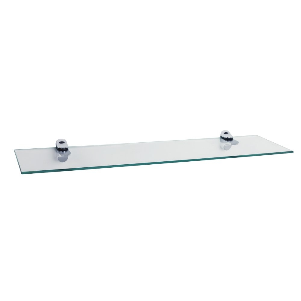 Wade Logan Clear Tempered Glass Floating Shelf Reviews Wayfair In Clear Glass Floating Shelves (#14 of 15)