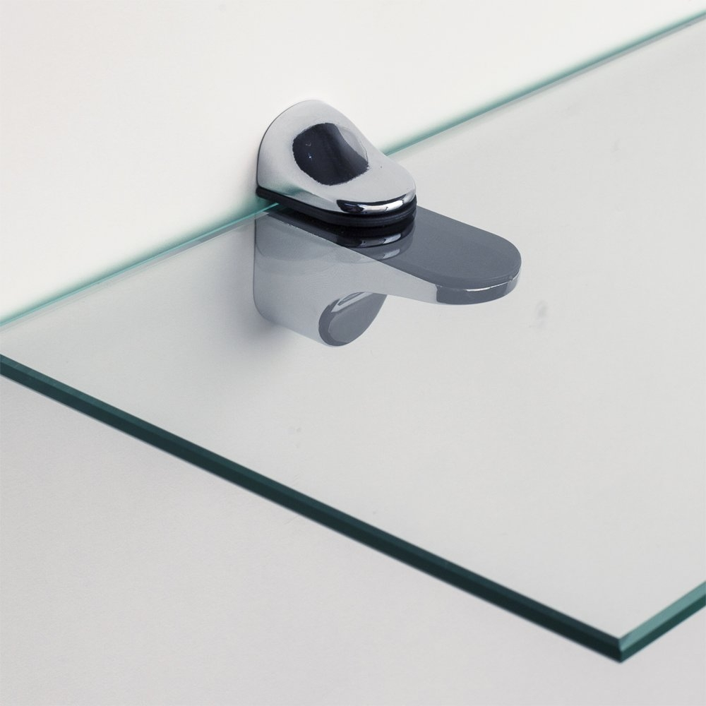 Wade Logan Clear Tempered Glass Floating Shelf Reviews Wayfair Regarding Clear Glass Floating Shelves (#15 of 15)