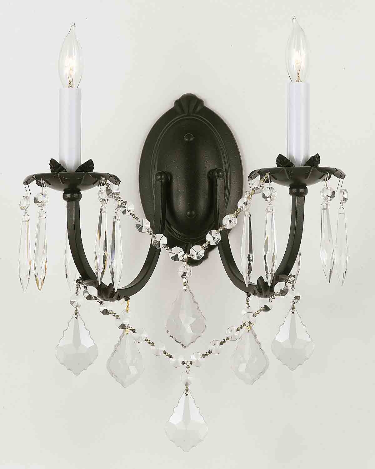 Wall Chandelier Crystal Wall Scones Wall Lighting Fixtures For Chandelier Wall Lights (#11 of 12)