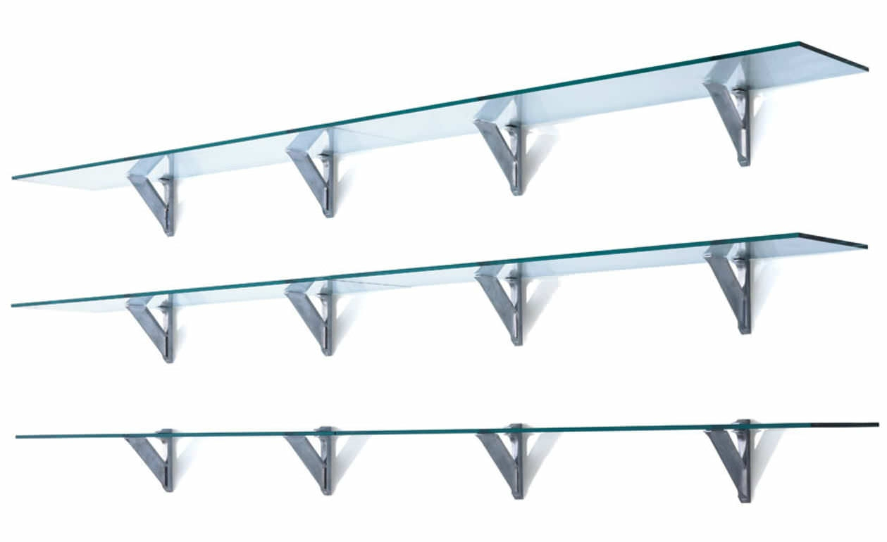 Wall Mounted Glass Shelves Cymun Designs Throughout Wall Mounted Glass Shelves (#7 of 12)