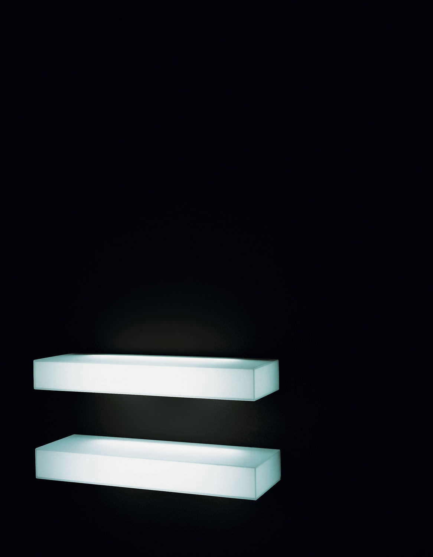 Wall Mounted Shelf Contemporary Glass Illuminated Light For Illuminated Glass Shelf (#10 of 12)