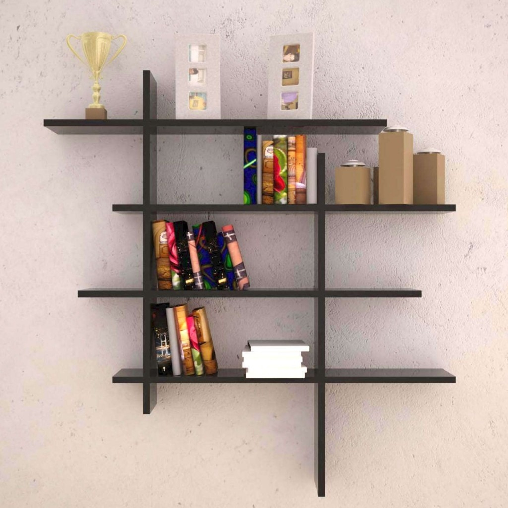 Wall Mounted Wood Shelves Throughout Wooden Wall Shelves (#4 of 15)