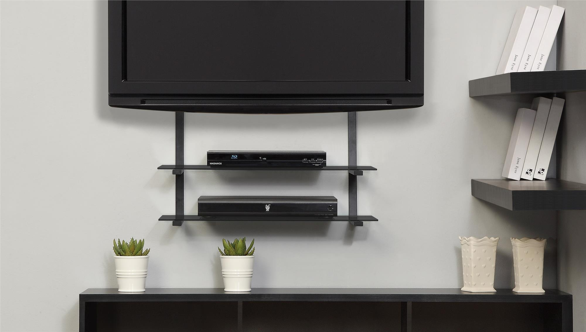 Wall Mounts For Flat Screen Tv With Shelves Corner Tv Wall Mount With Flat Screen Shelving (#11 of 15)