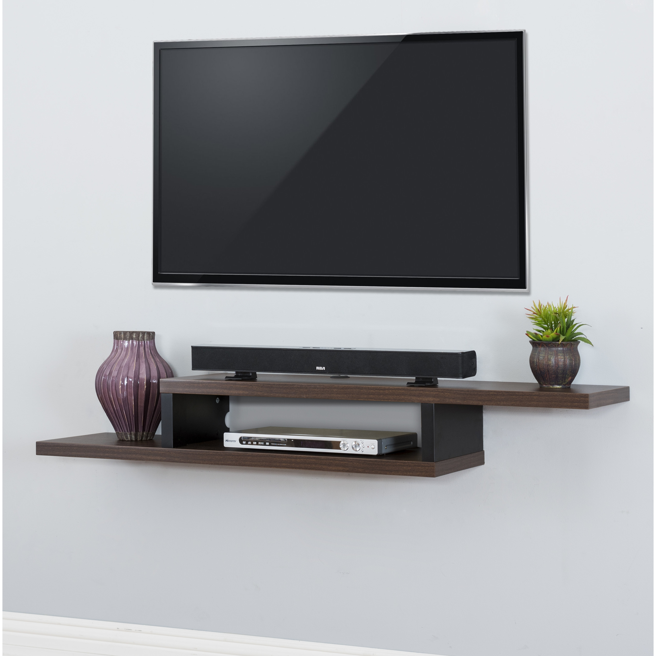 Wall Shelves Design Affordable Wall Mounted Shelves For Tv Wall For Flat Screen Shelving (#12 of 15)