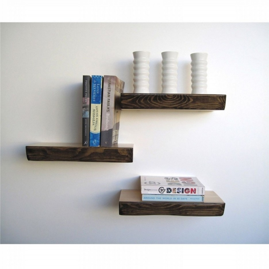 Wall Shelves Design Images Gallery Dark Wood Shelves Wall Dark With Regard To High Quality Bookshelves (View 14 of 15)