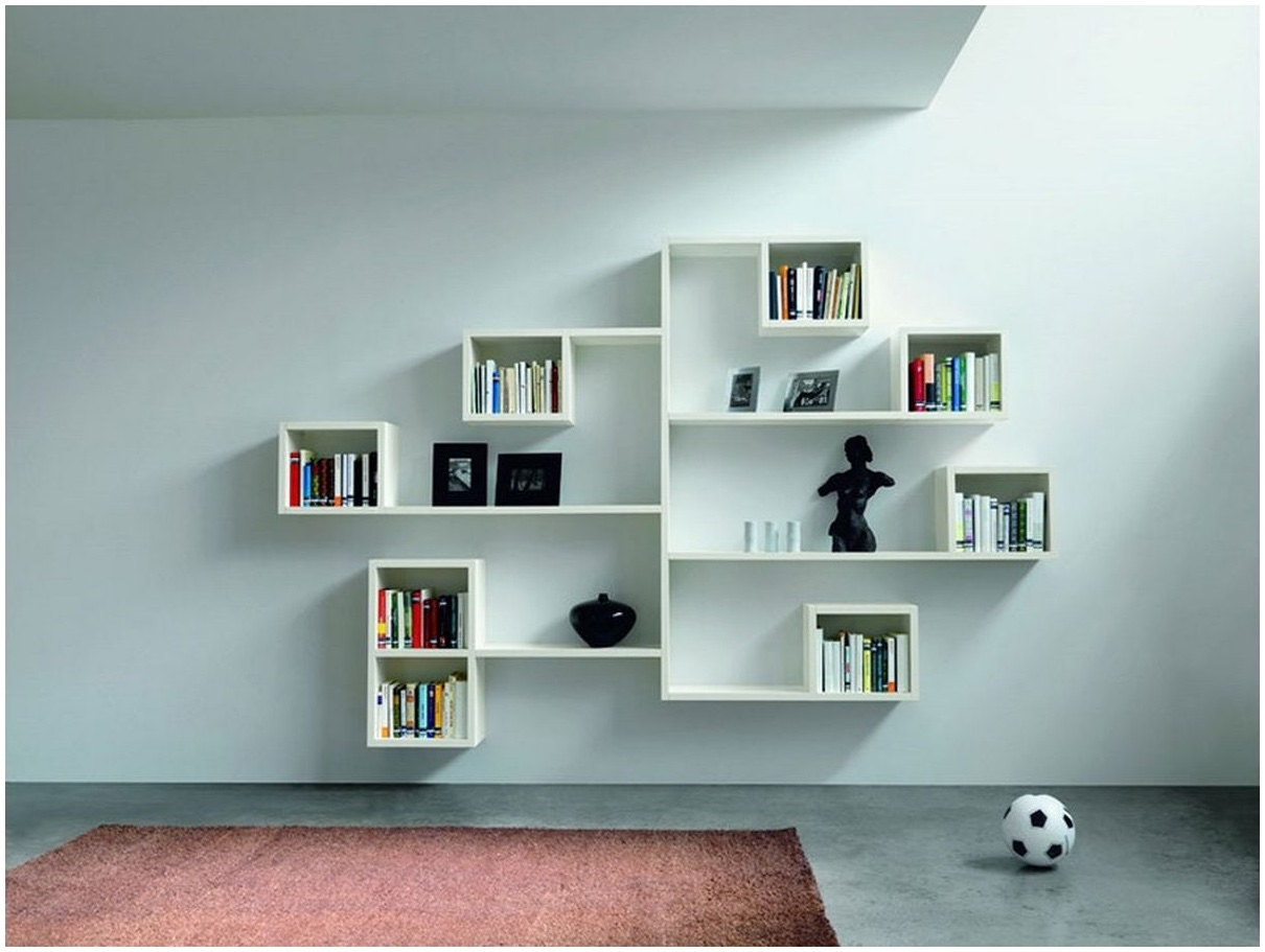 Wall Shelves Design Modern Ideas Wall Shelving Units For Living With Regard To Painted Shelving Units (#13 of 15)