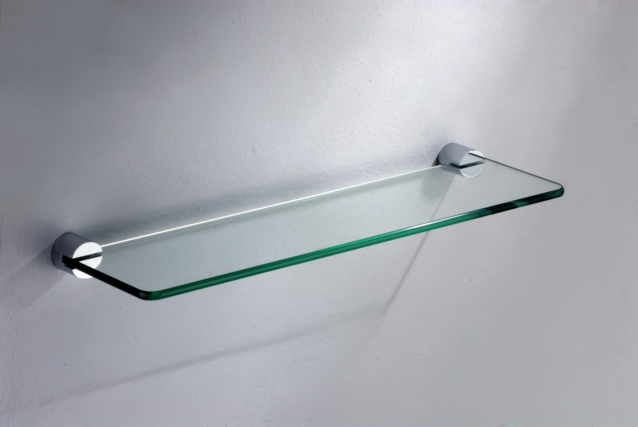Popular Photo of Wall Mounted Glass Shelf