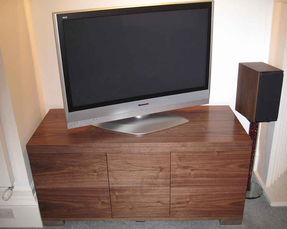 Walnut Av Furniture Walnut Av Cabinets Walnut Tv Stands Walnut Inside Bespoke Tv Stand (View 4 of 15)