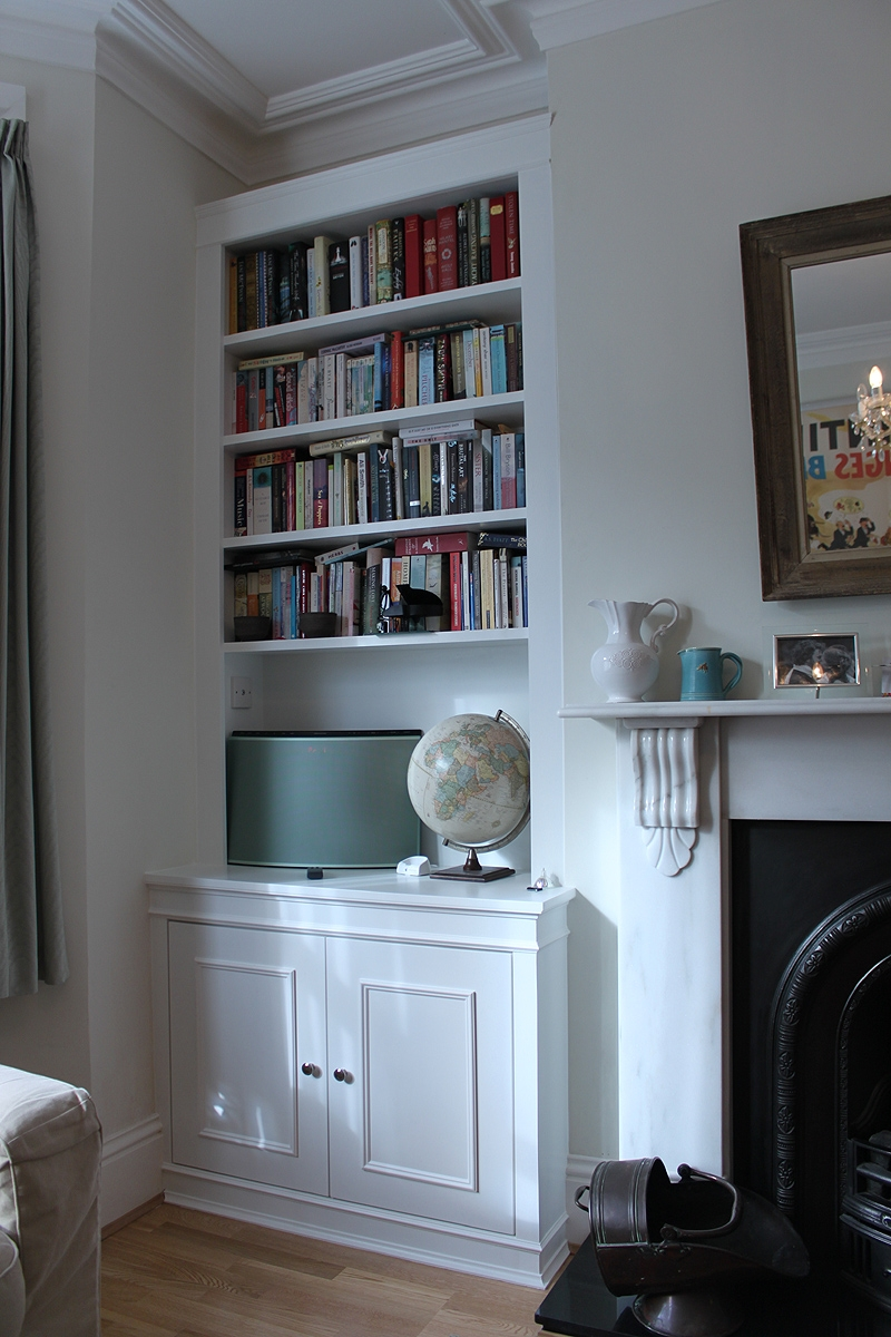 Wardrobe Company Floating Shelves Boockcase Cupboards Fitted Intended For White Bookcase With Cupboard (View 11 of 15)