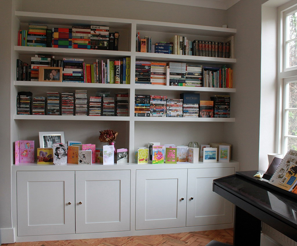 Popular Photo of Fitted Book Shelves