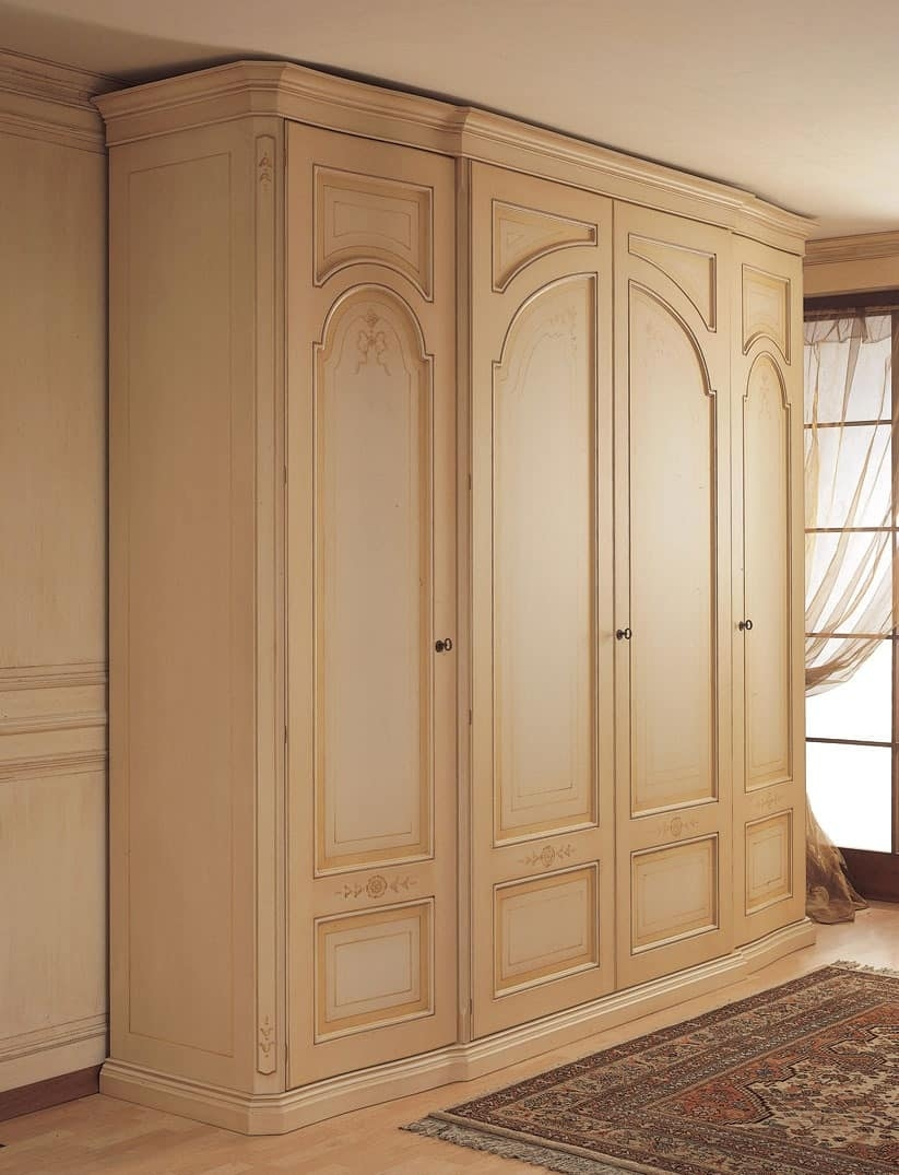 Wardrobe With Curved Side Doors For Classical Bedroom Idfdesign For Curved Wardrobe Doors (View 15 of 15)