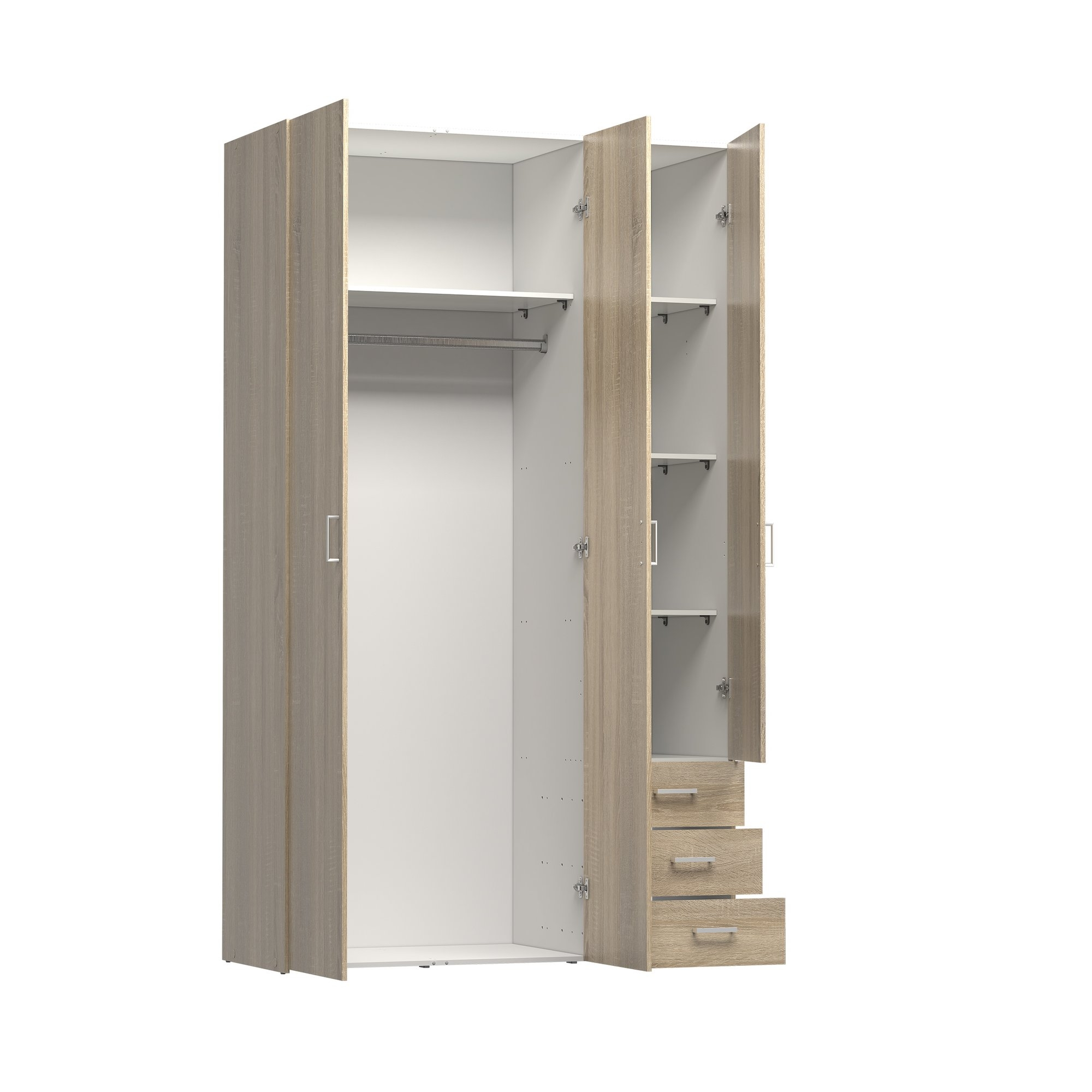 Wardrobe With Shelves And Drawers Best Drawer Model In Wardrobe With Shelves And Drawers (View 11 of 15)
