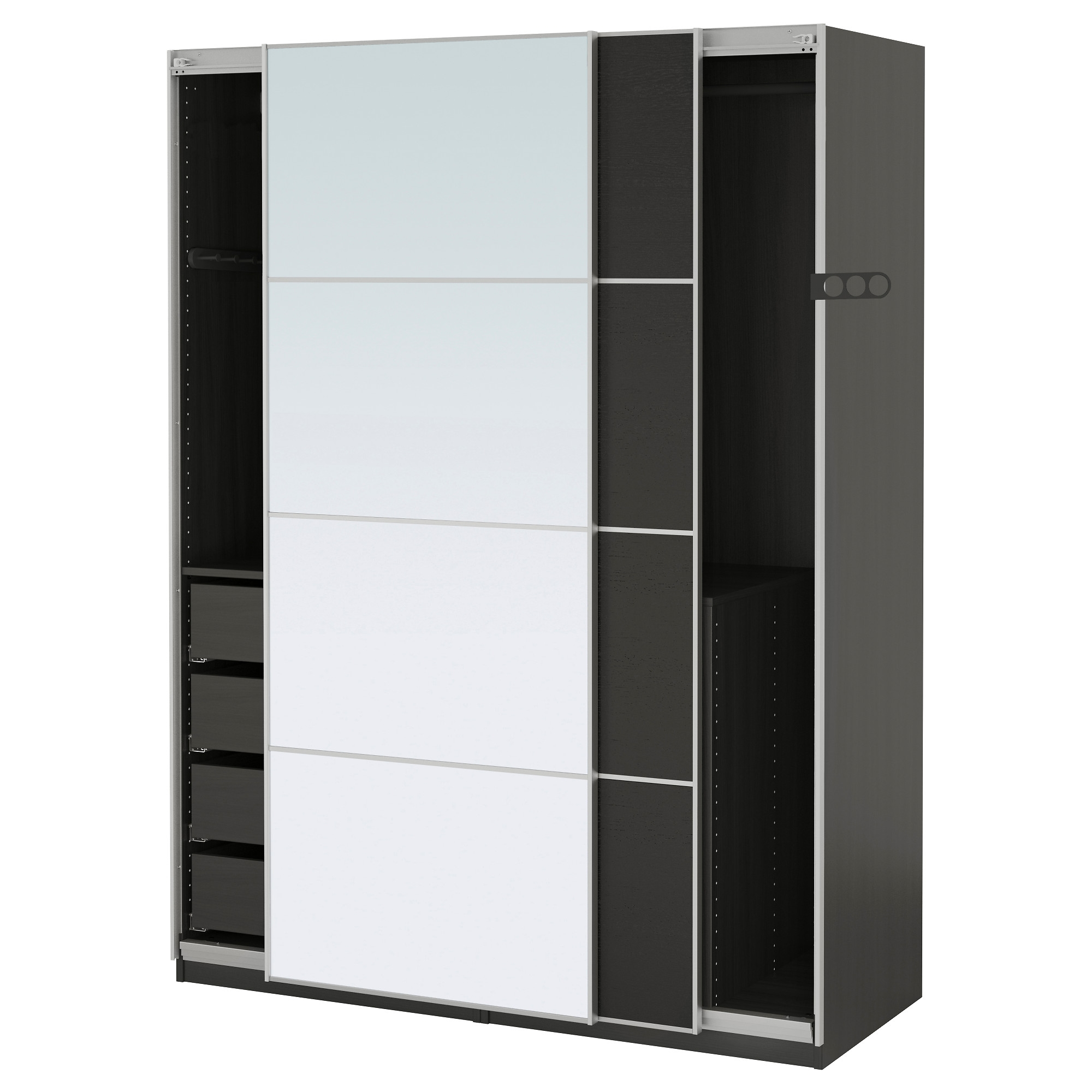 Wardrobes Pax System Ikea Pertaining To Wardrobe With Shelves And Drawers (View 14 of 15)