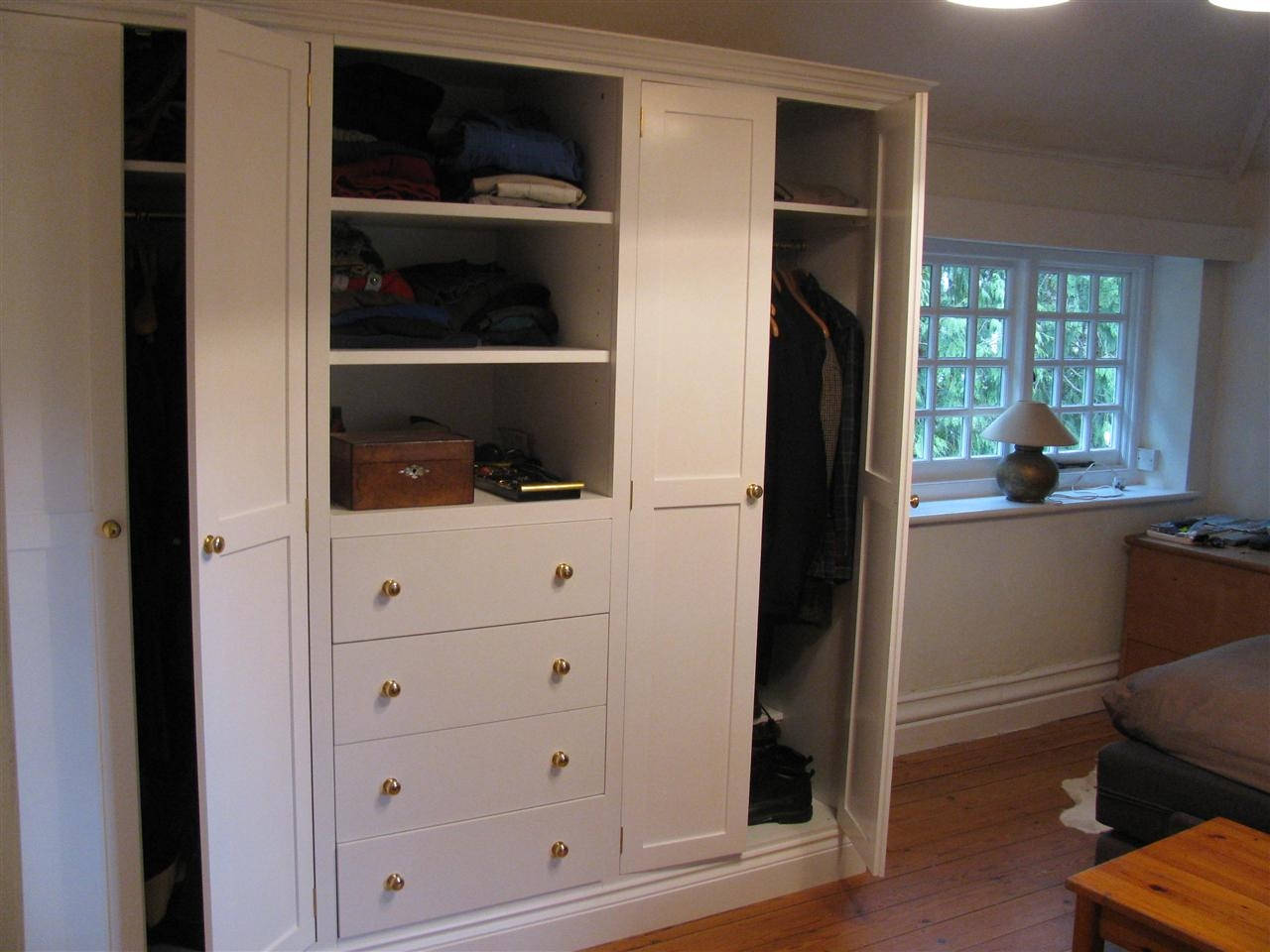 Wardrobes Pertaining To Wardrobe With Drawers And Shelves (View 14 of 15)