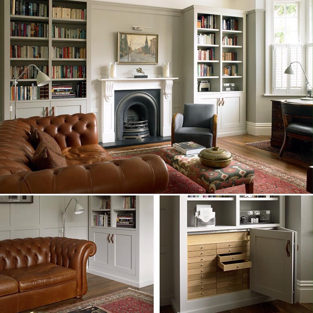 We Designed And Built Bespoke Bookcases And Wall Panelling For In Study Bookcases (#15 of 15)
