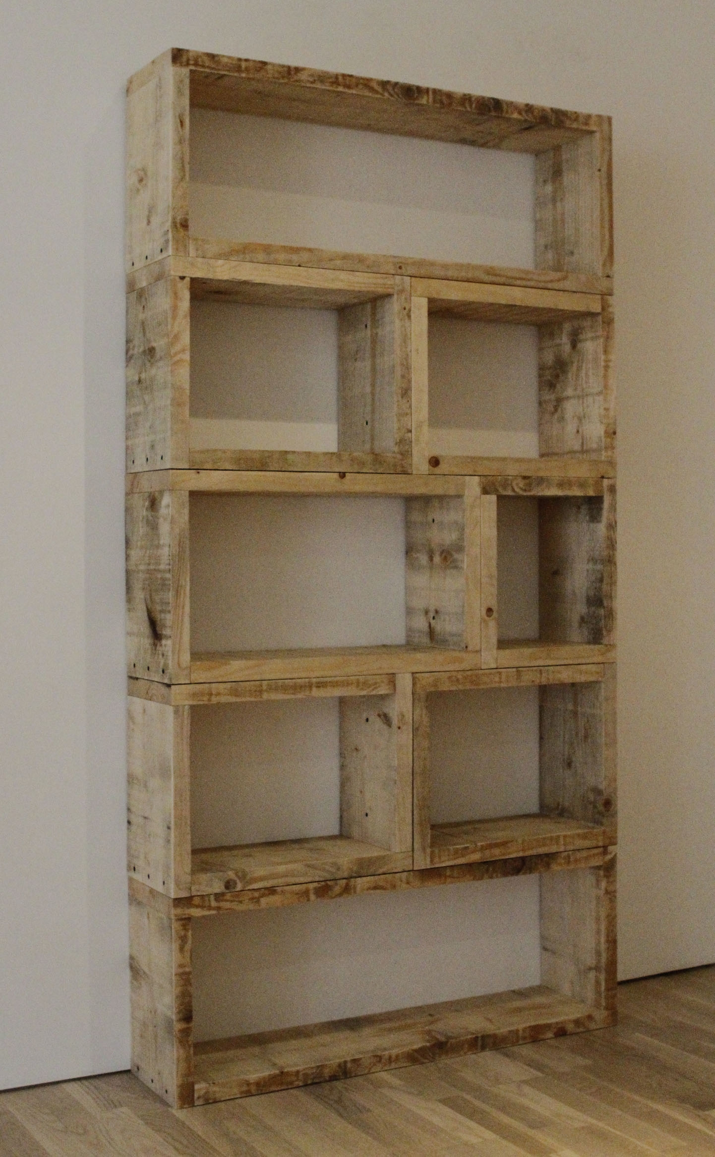 Welcome To Relic Interiors Rustic Bookcase With Handmade Wooden Shelves (View 15 of 15)
