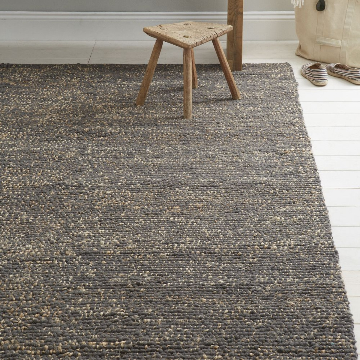 West Elm Pebble Rug Simplistic Interior And Mini Jute Wool Tikspor Intended For Jute And Wool Area Rugs (#6 of 7)