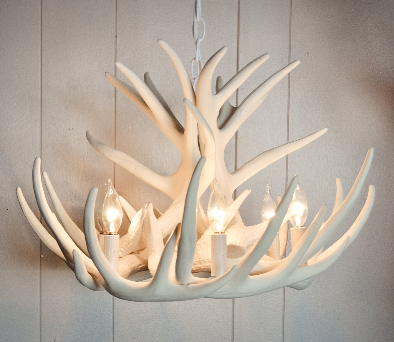 White Antler Chandelier Faux Antler Chandelier W9c Antler With Regard To White Antler Chandelier (#8 of 12)