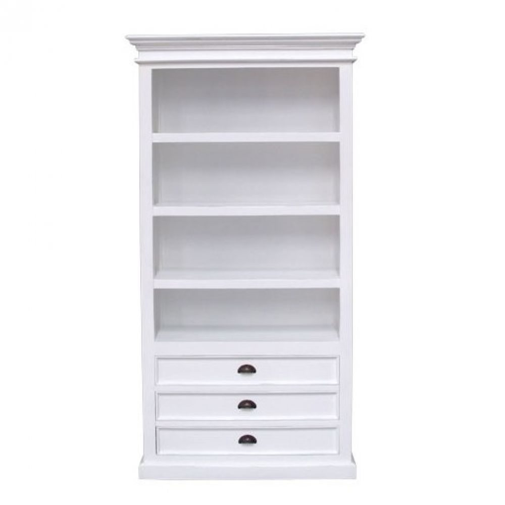 White Bookcase With Drawers Roselawnlutheran For White Bookcase (#13 of 15)