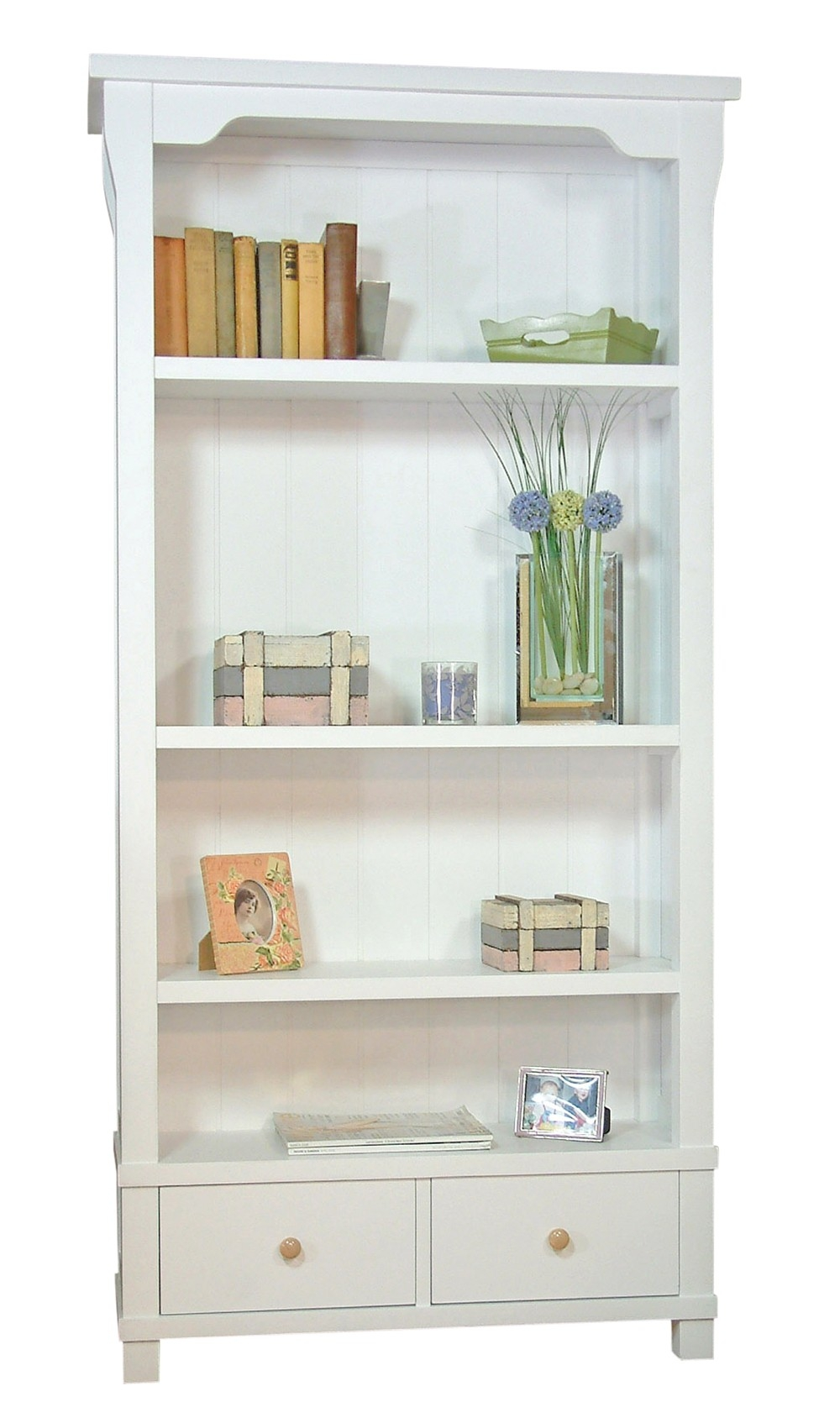 White Bookcases Within White Bookcases (#12 of 15)