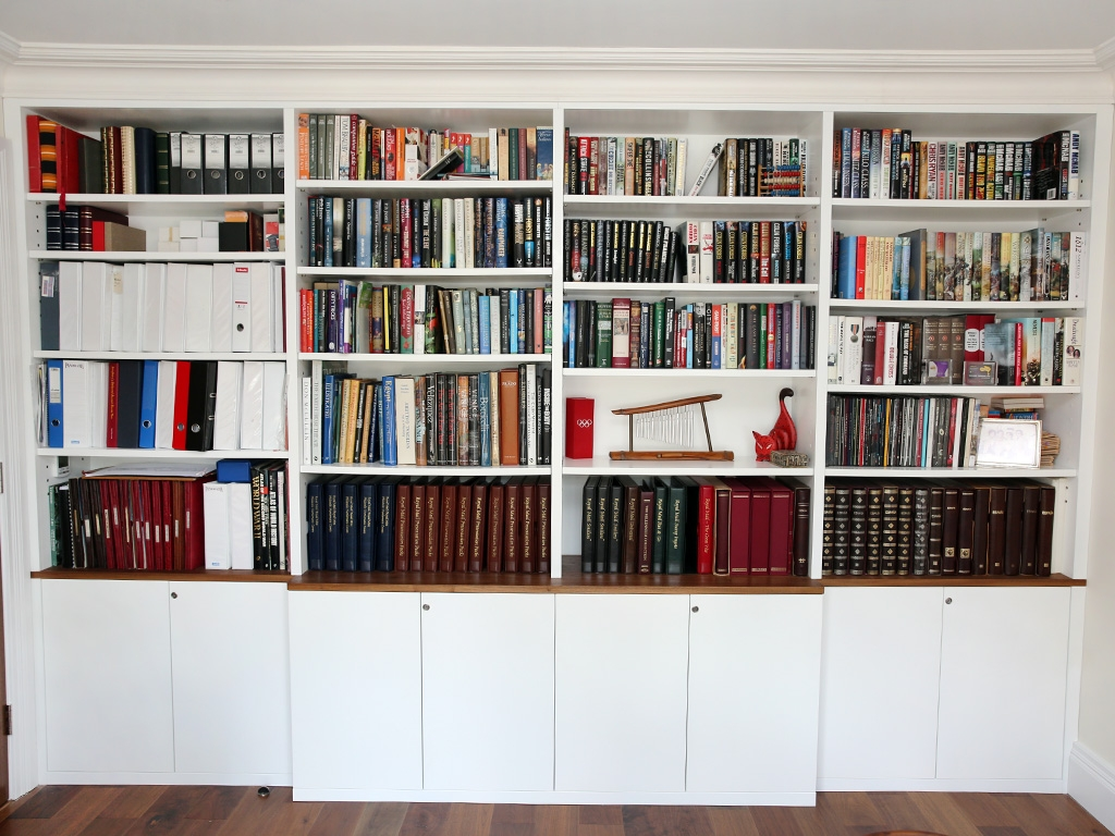 White Built In Bookshelves Idi Design Intended For Fitted Bookcase (#14 of 15)