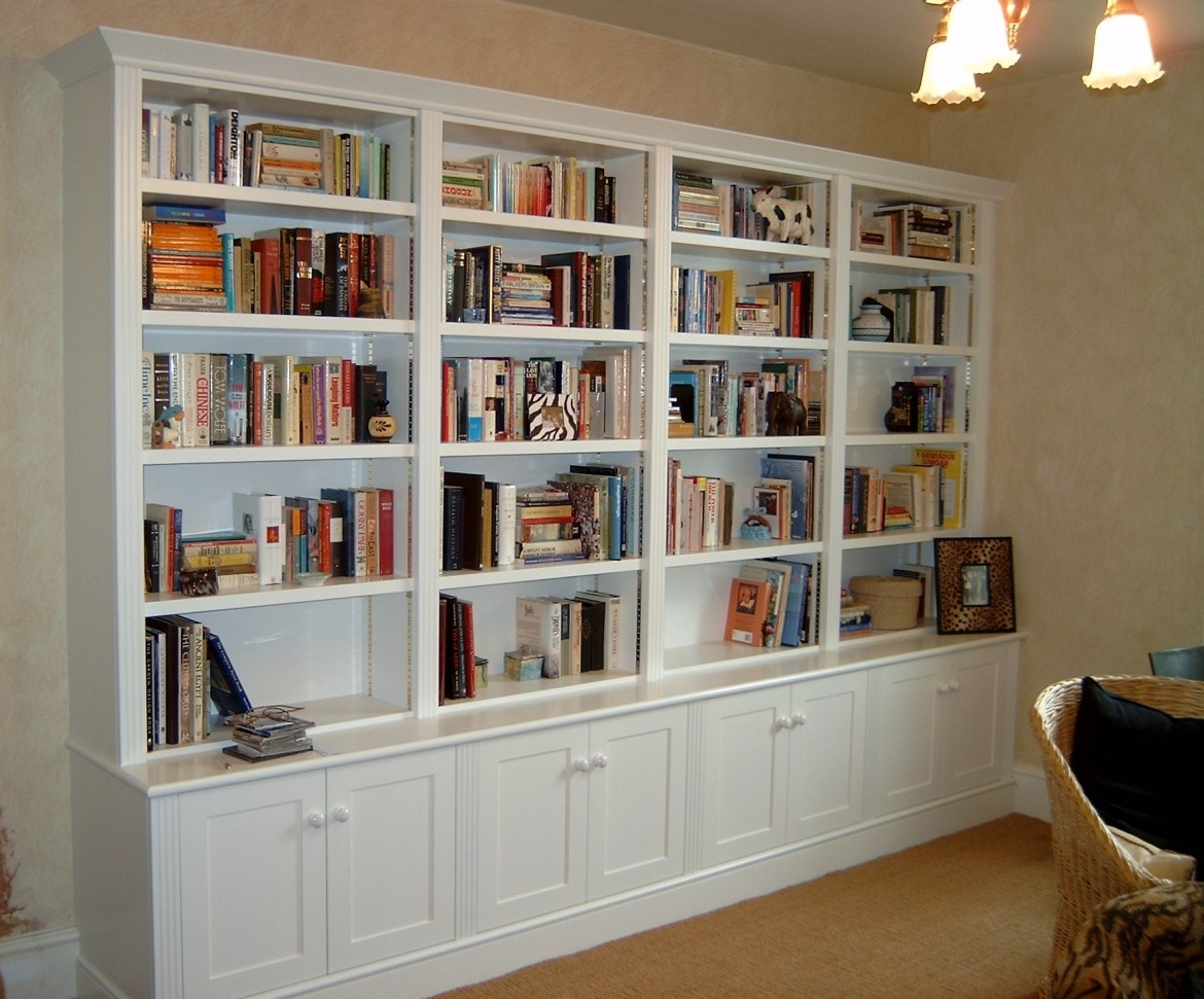 White Cabinets And Bookshelf Creative Cabinets Decoration Inside White Library Bookcase (View 4 of 15)