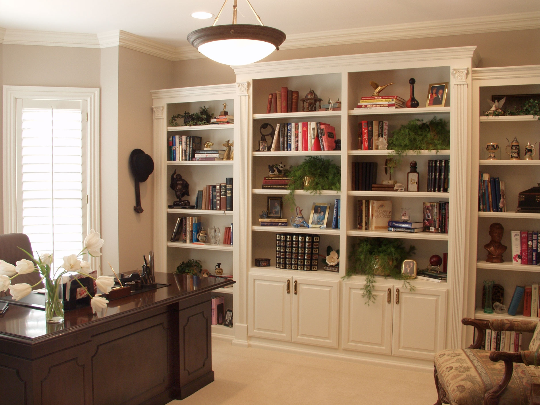 White Cabinets And Bookshelf Creative Cabinets Decoration With Regard To Bookcase With Bottom Cabinets (#15 of 15)