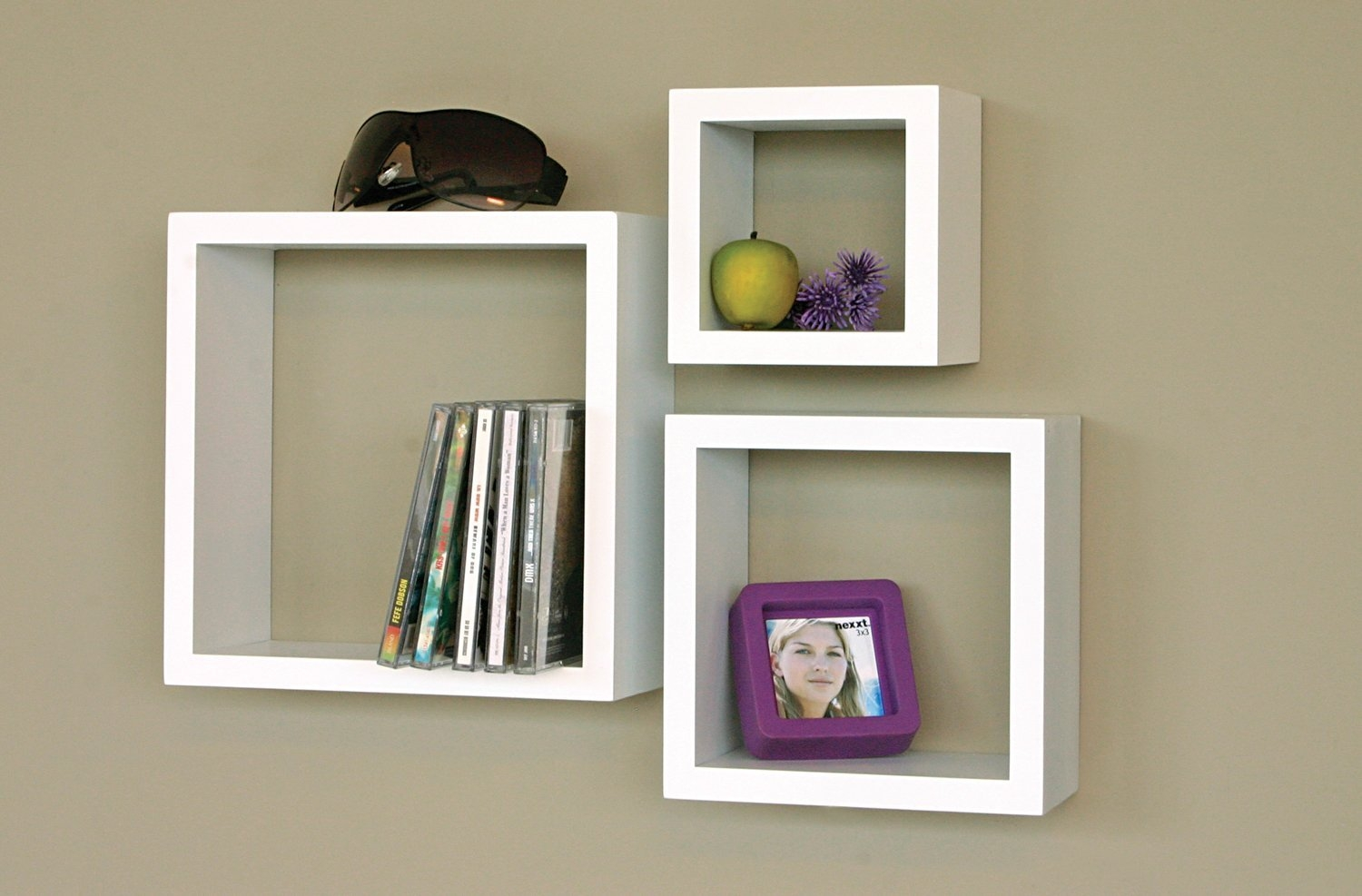 White Floating Wall Shelves Set Of 3 For Your Rooms Review For White Wall Shelves (View 12 of 15)