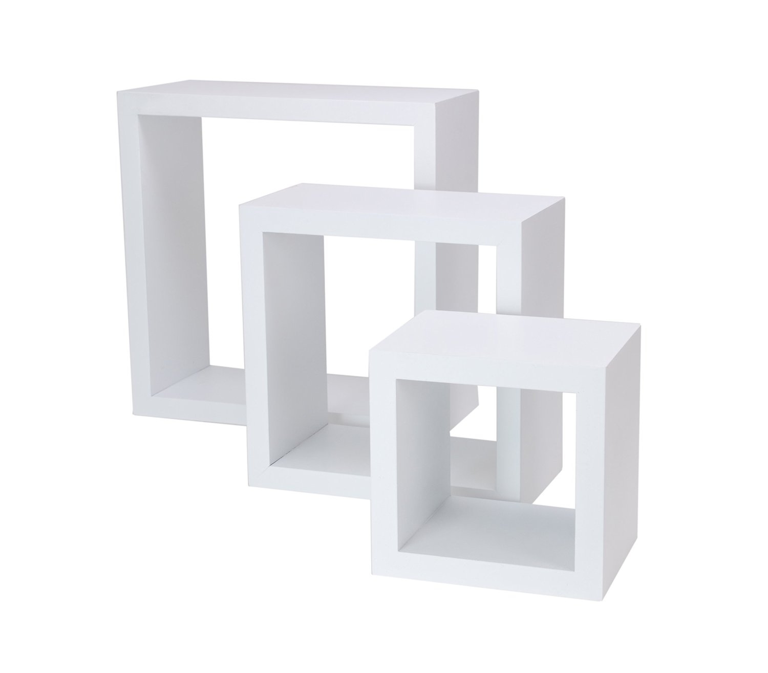 White Floating Wall Shelves Set Of 3 For Your Rooms Review With White Wall Shelves (View 15 of 15)