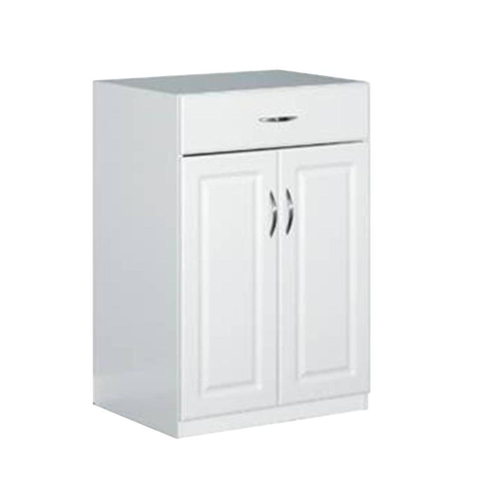 White Free Standing Cabinets Garage Cabinets Storage Systems In Free Standing Storage Cupboards (View 6 of 12)