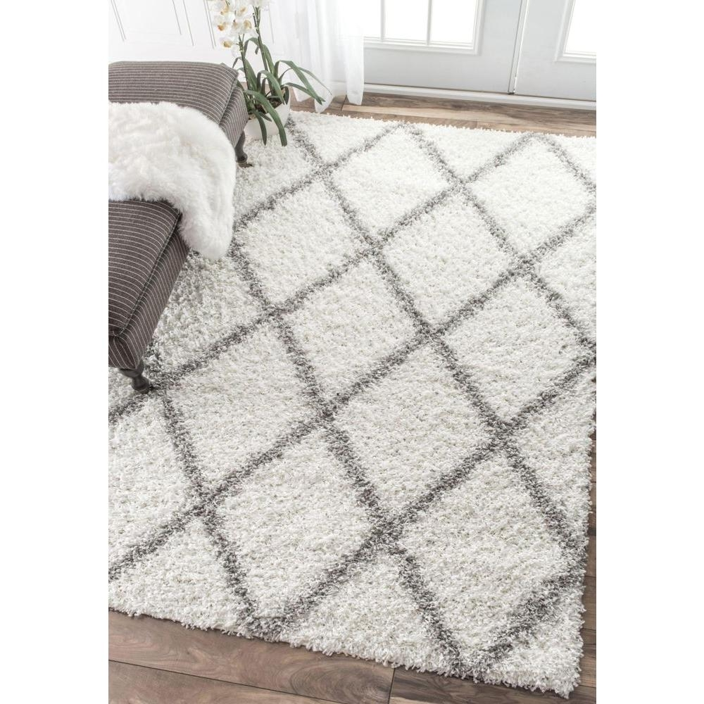 White Grey Rug Roselawnlutheran Within 6×9 Wool Area Rugs (#14 of 15)