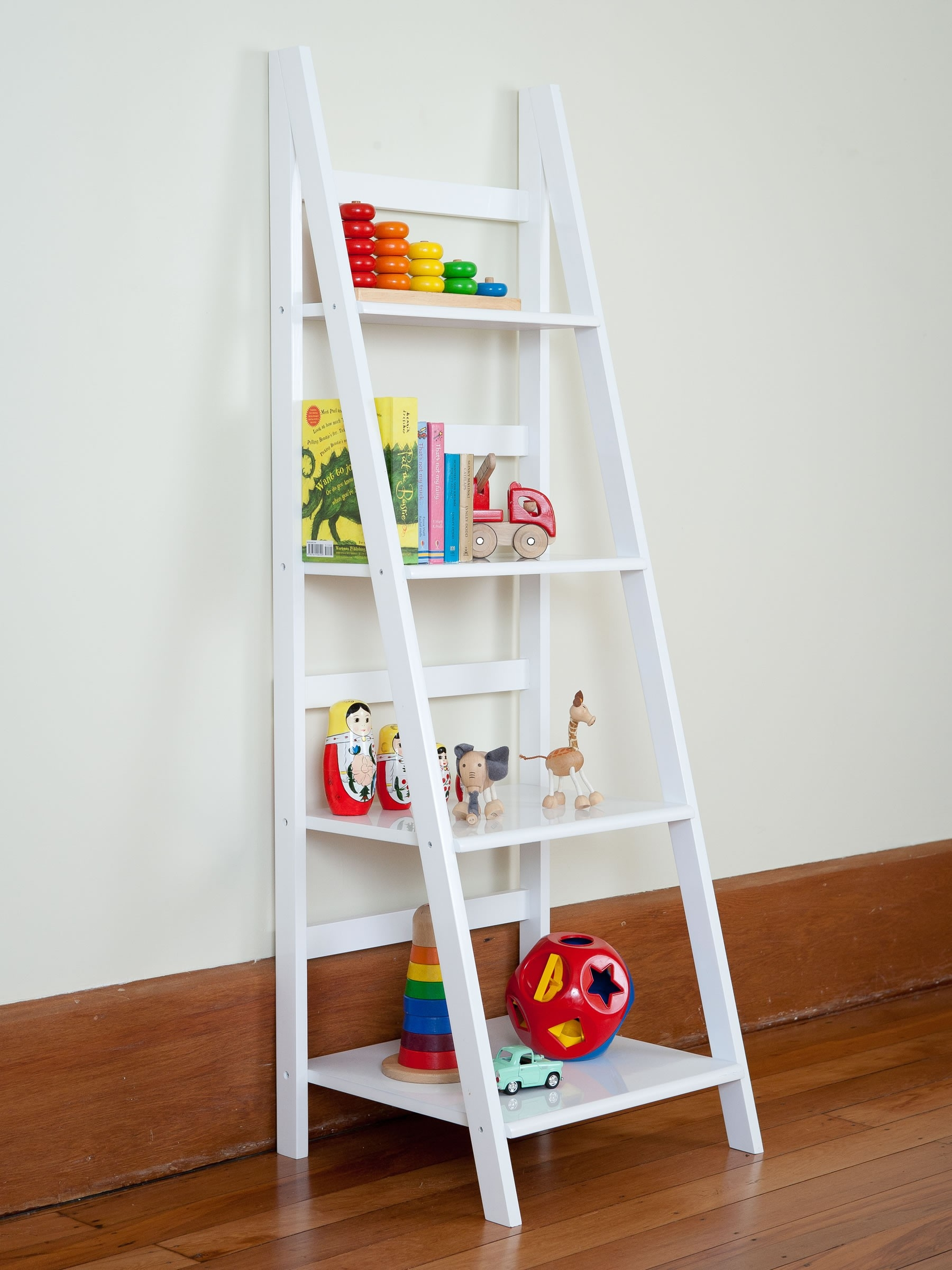 White Ladder Bookcase Throughout White Ladder Shelf (View 3 of 15)