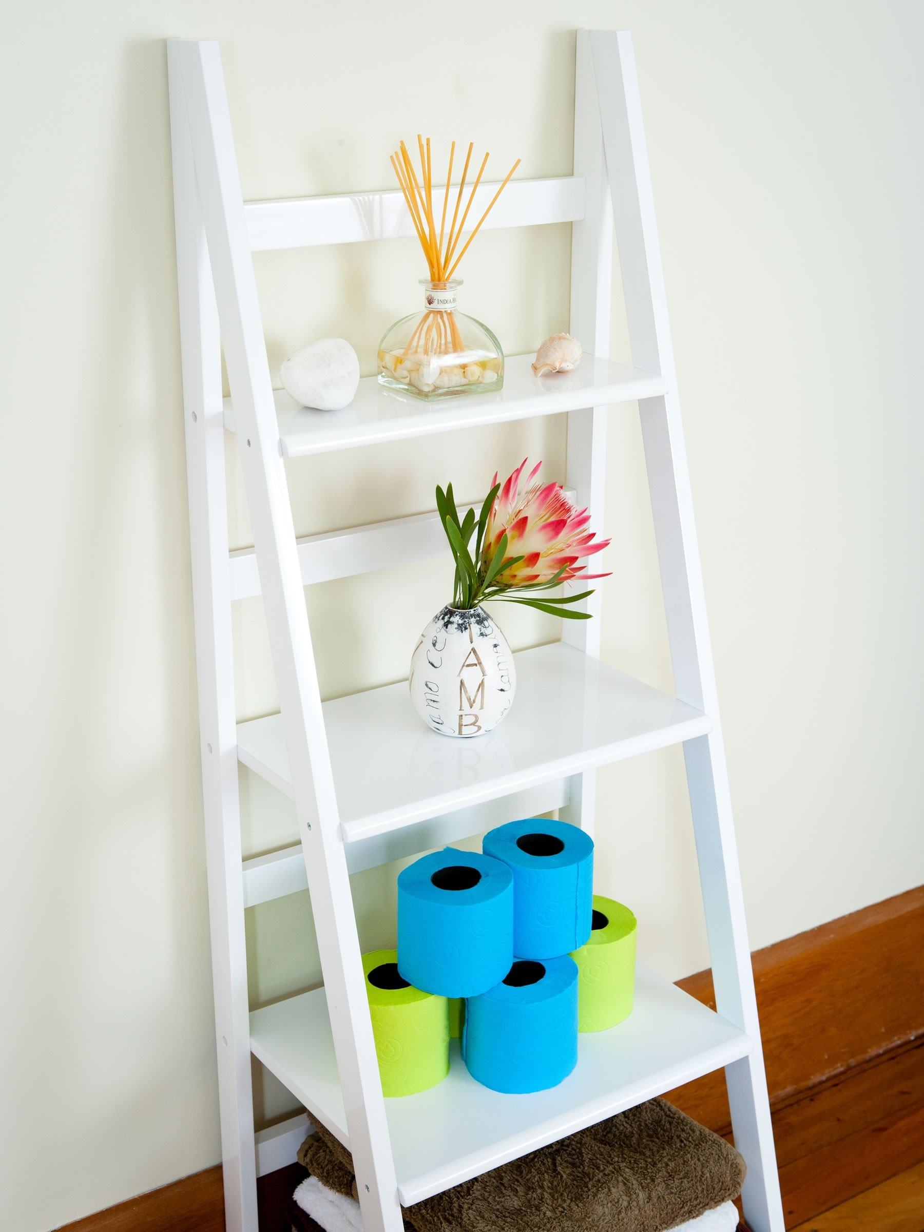 White Ladder Shelves Mocka Australia With Regard To White Ladder Shelf (View 5 of 15)
