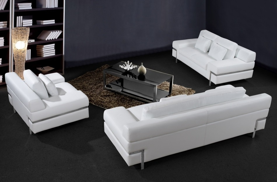 White Leather Sofa Home Design Ideas In White Modern Sofas (#12 of 15)