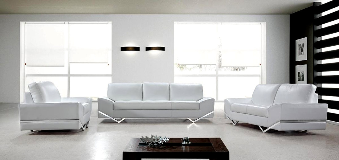 White Modern Sofa Set Vg 74 Leather Sofas Regarding White Modern Sofas (#13 of 15)