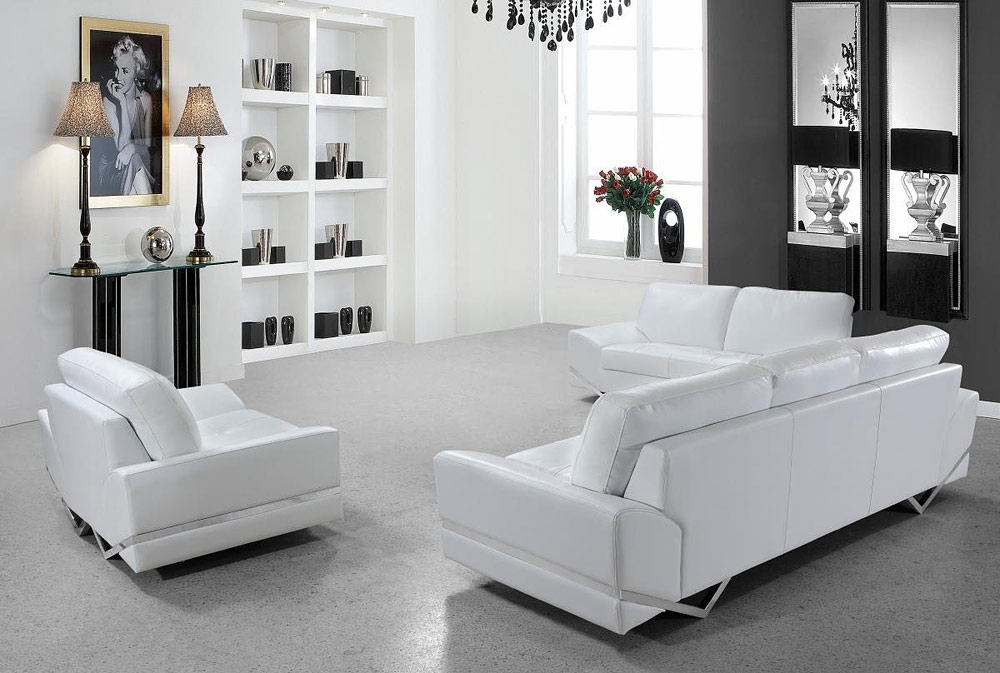 White Modern Sofa Set Vg 74 Leather Sofas With Regard To White Modern Sofas (#14 of 15)