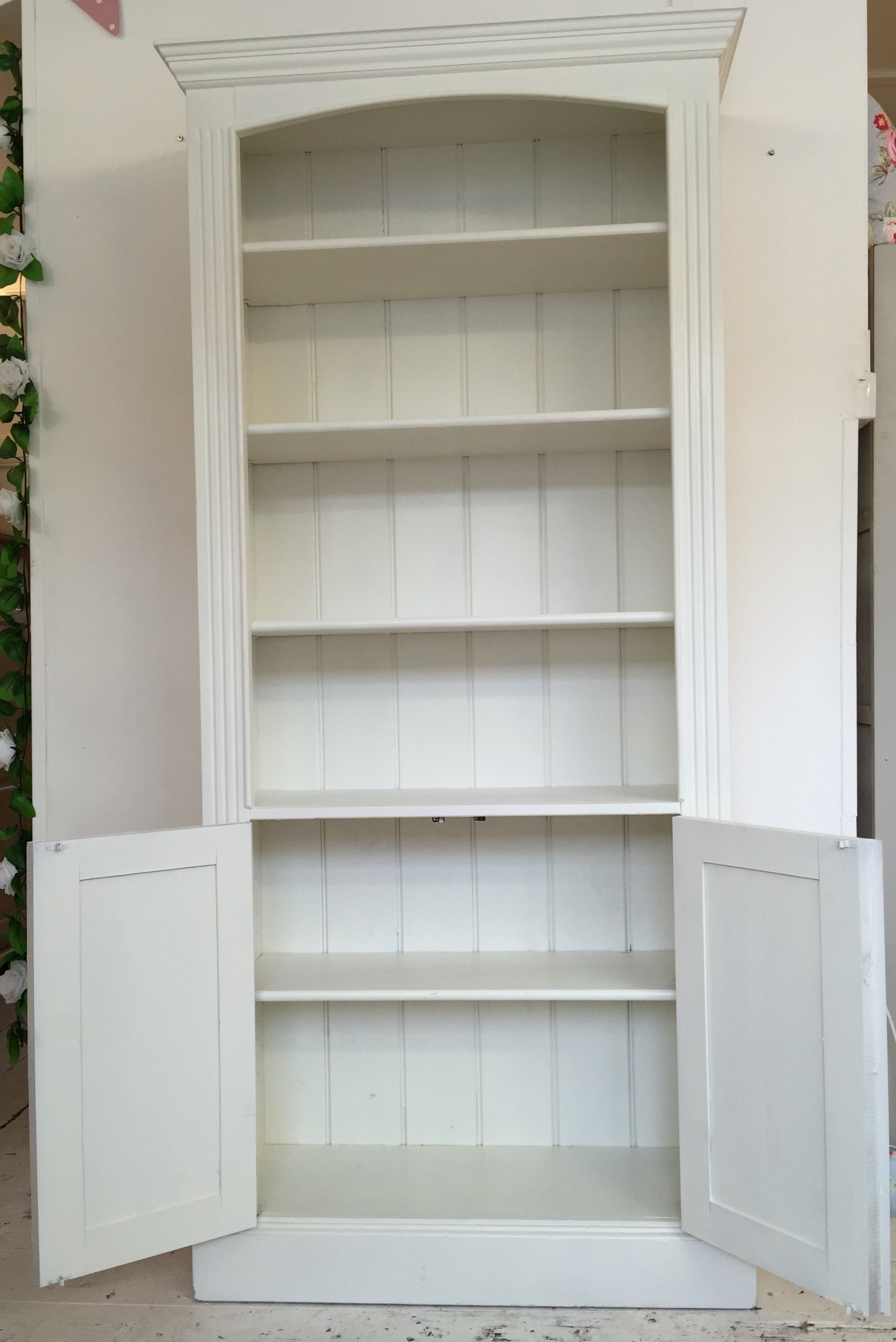 White Painted Cupboard Base Bookcase Home Sweet Homehome Sweet Home With Bookcase With Cupboard Base (#15 of 15)