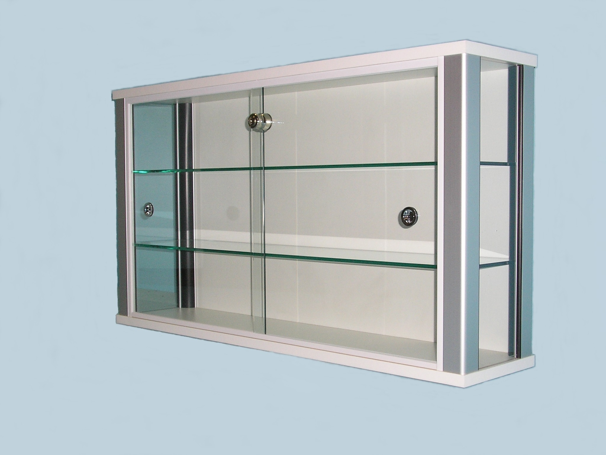 White Wall Mounted Glass Display Cabinet For Shops Designex Cabinets With Wall Mounted Glass Display Shelves (#15 of 15)