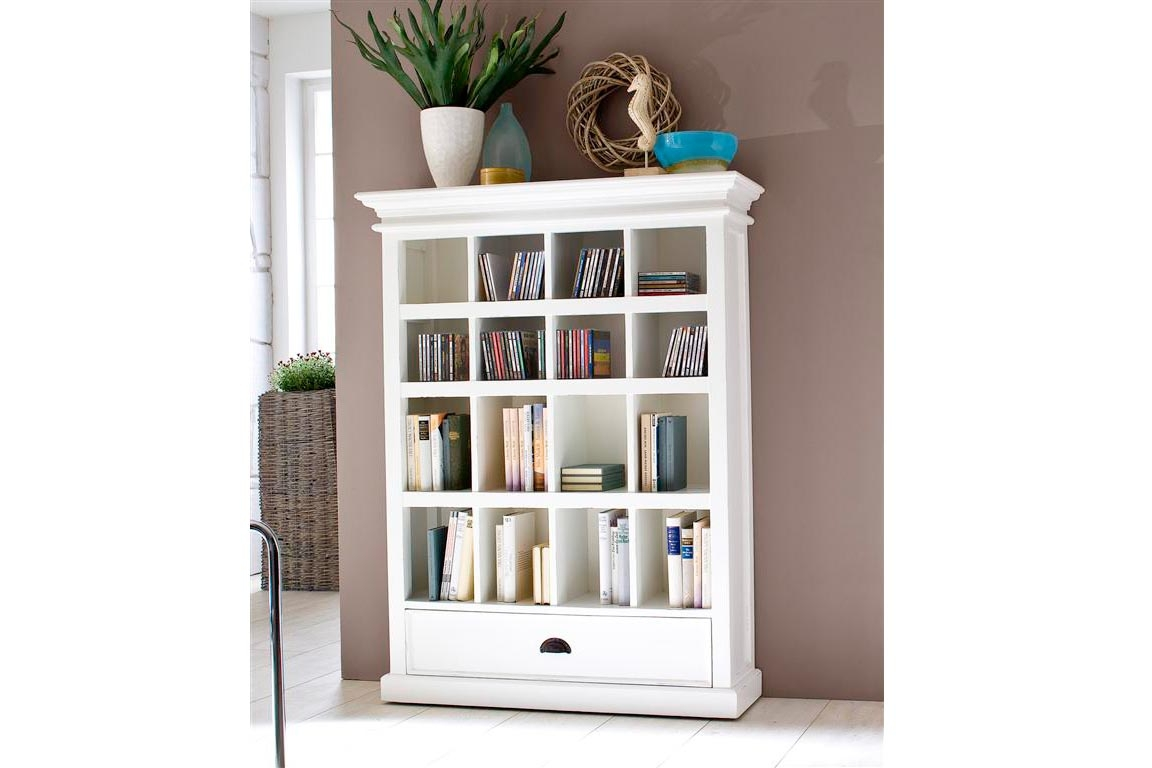 White Wood Bookcase Roselawnlutheran In Large Solid Wood Bookcase (View 15 of 15)