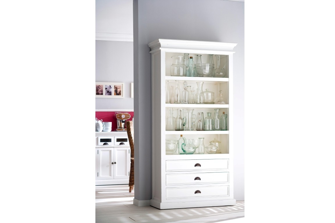 White Wood Bookcase Roselawnlutheran With White Painted Bookcase (#14 of 15)