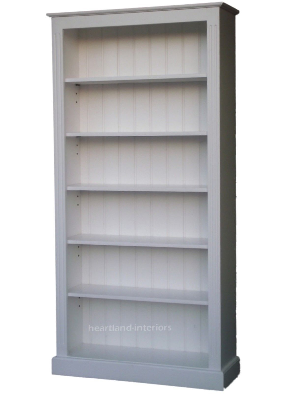 White Wood Bookcase ~ Ideas of painted wood bookcase