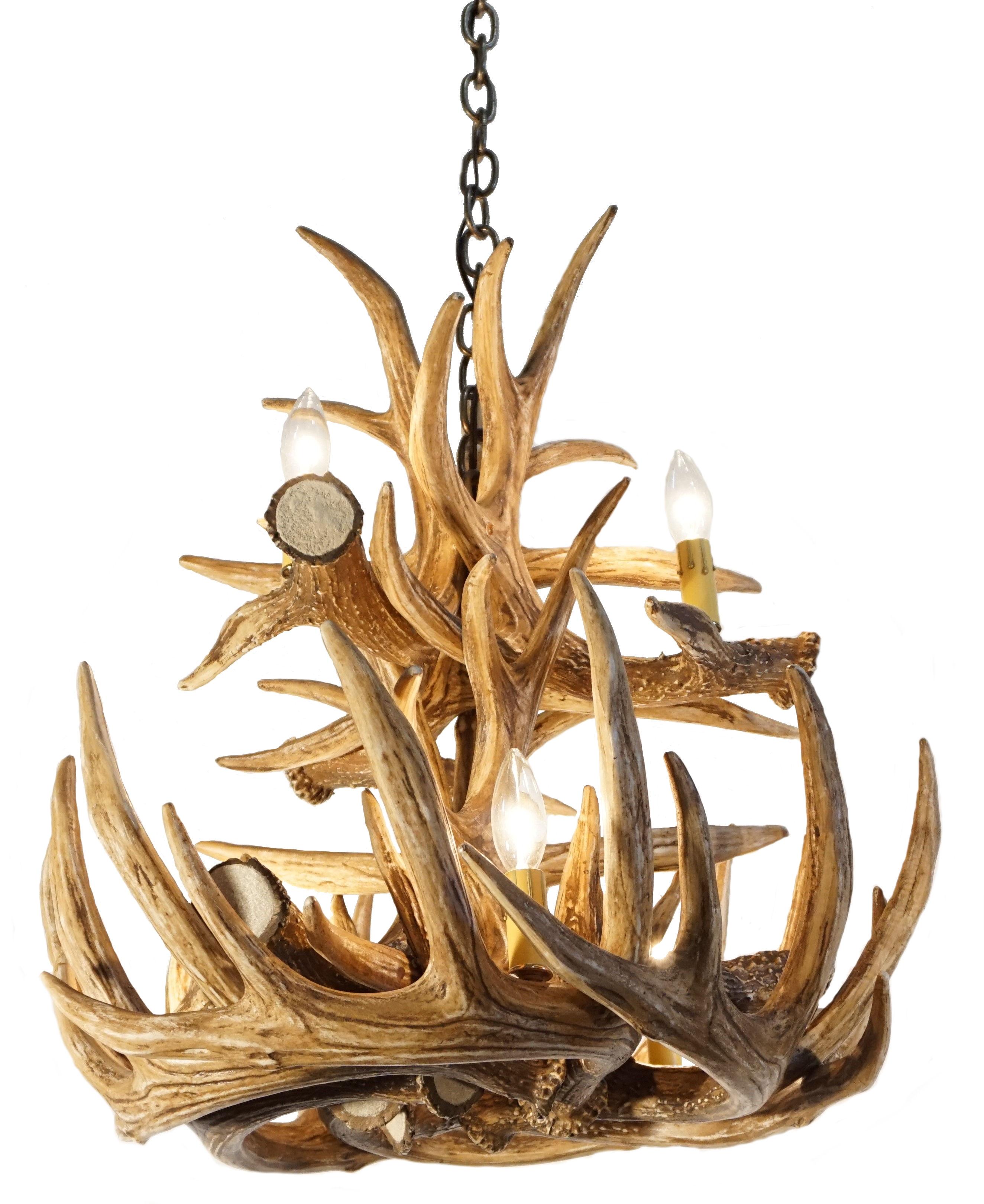 Whitetail Deer 12 Large Antler Chandelier Cast Horn Designs In Antler Chandelier (#10 of 12)