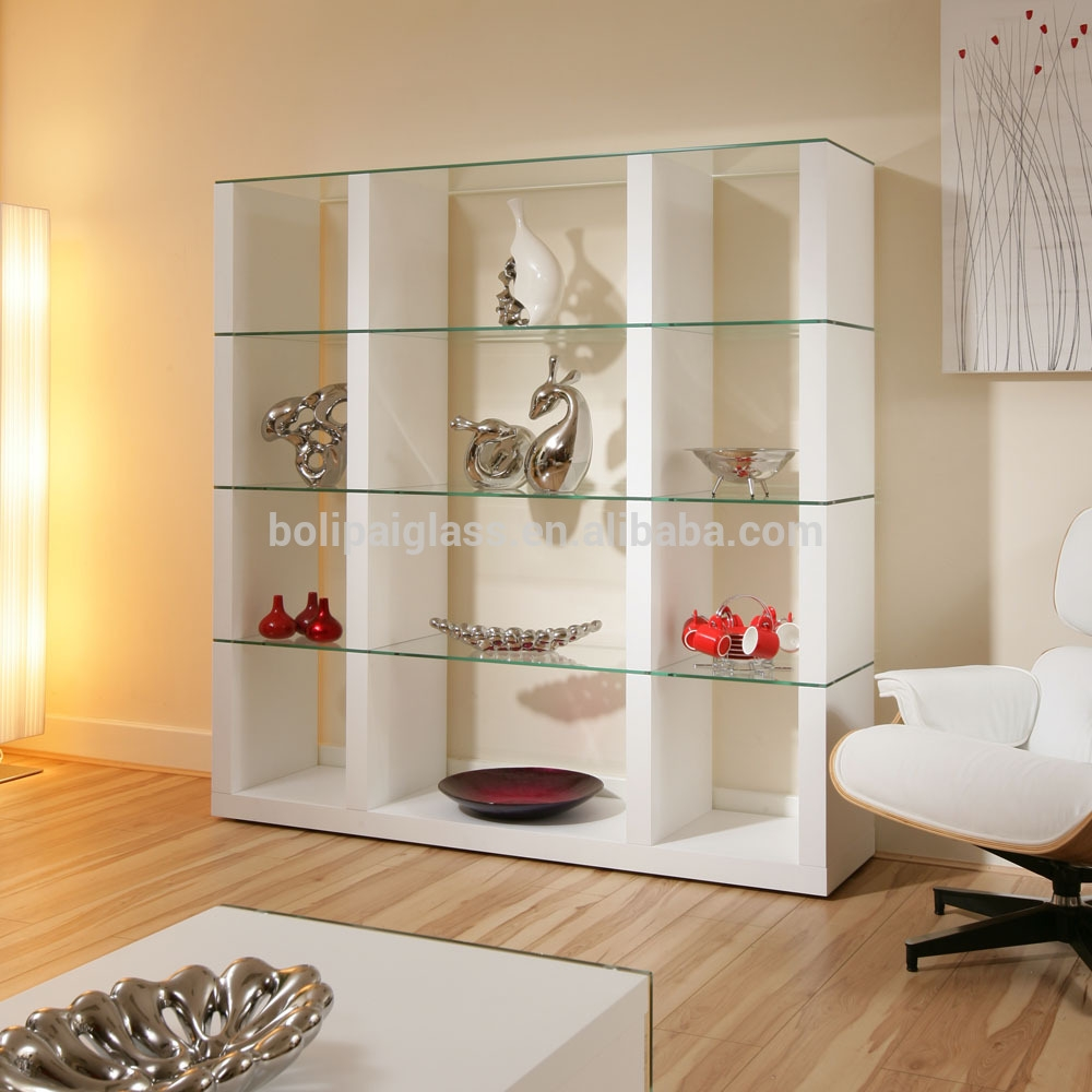 12 collection of glass shelves living room for Living room shelves