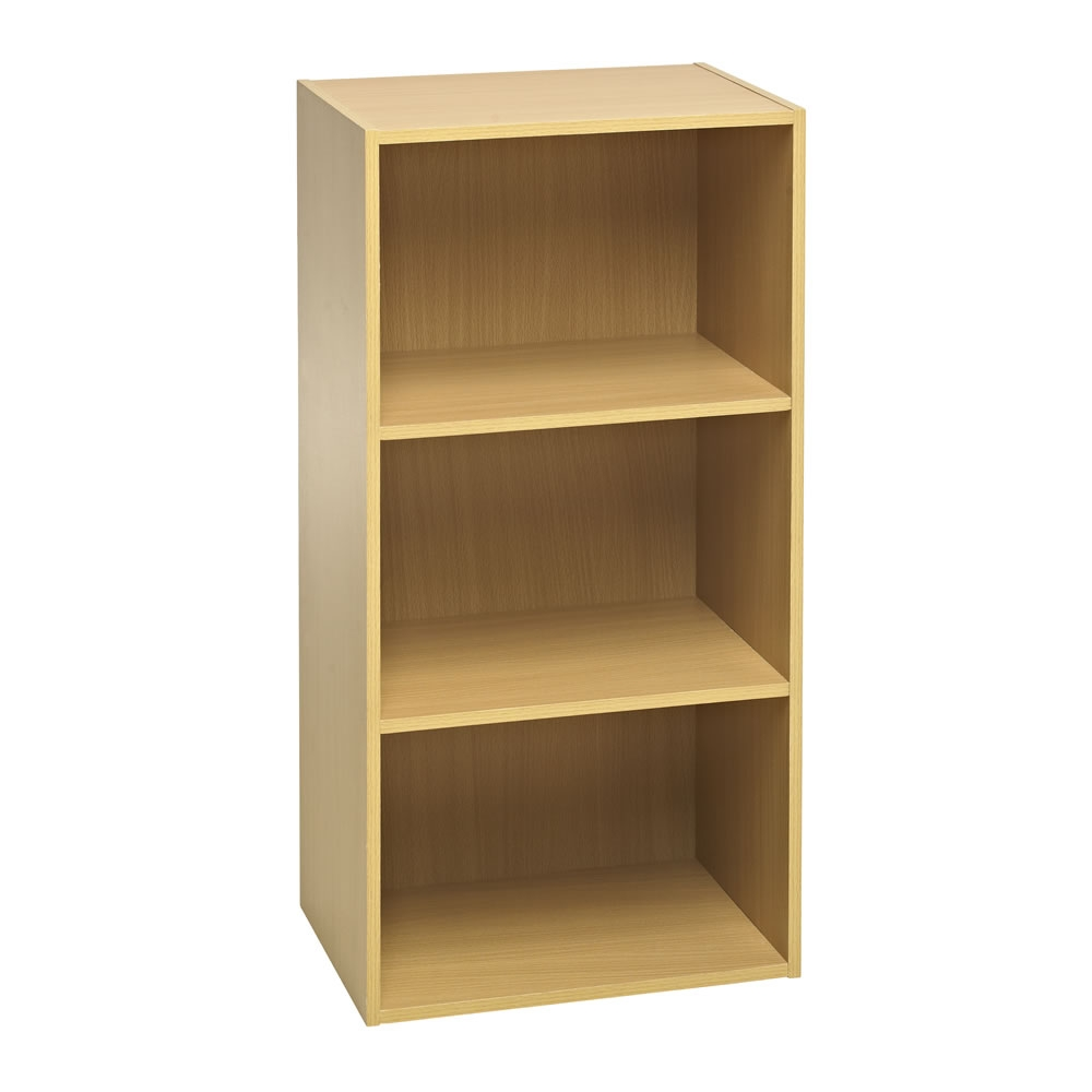 Wilko Functional 3 Tier Shelving Unit Oak Effect At Wilko With Cheap Shelving Units (#15 of 15)