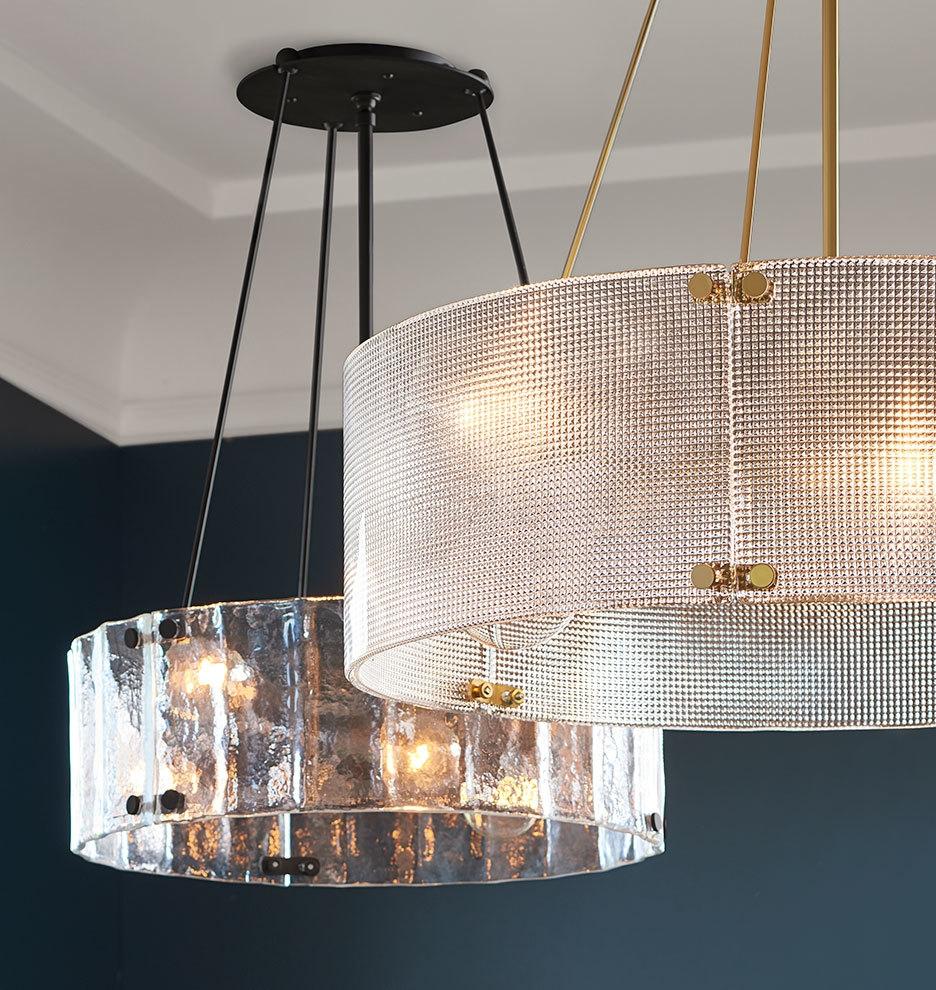 Willamette Large Diamond Glass Chandelier Rejuvenation For Large Glass Chandelier (#12 of 12)