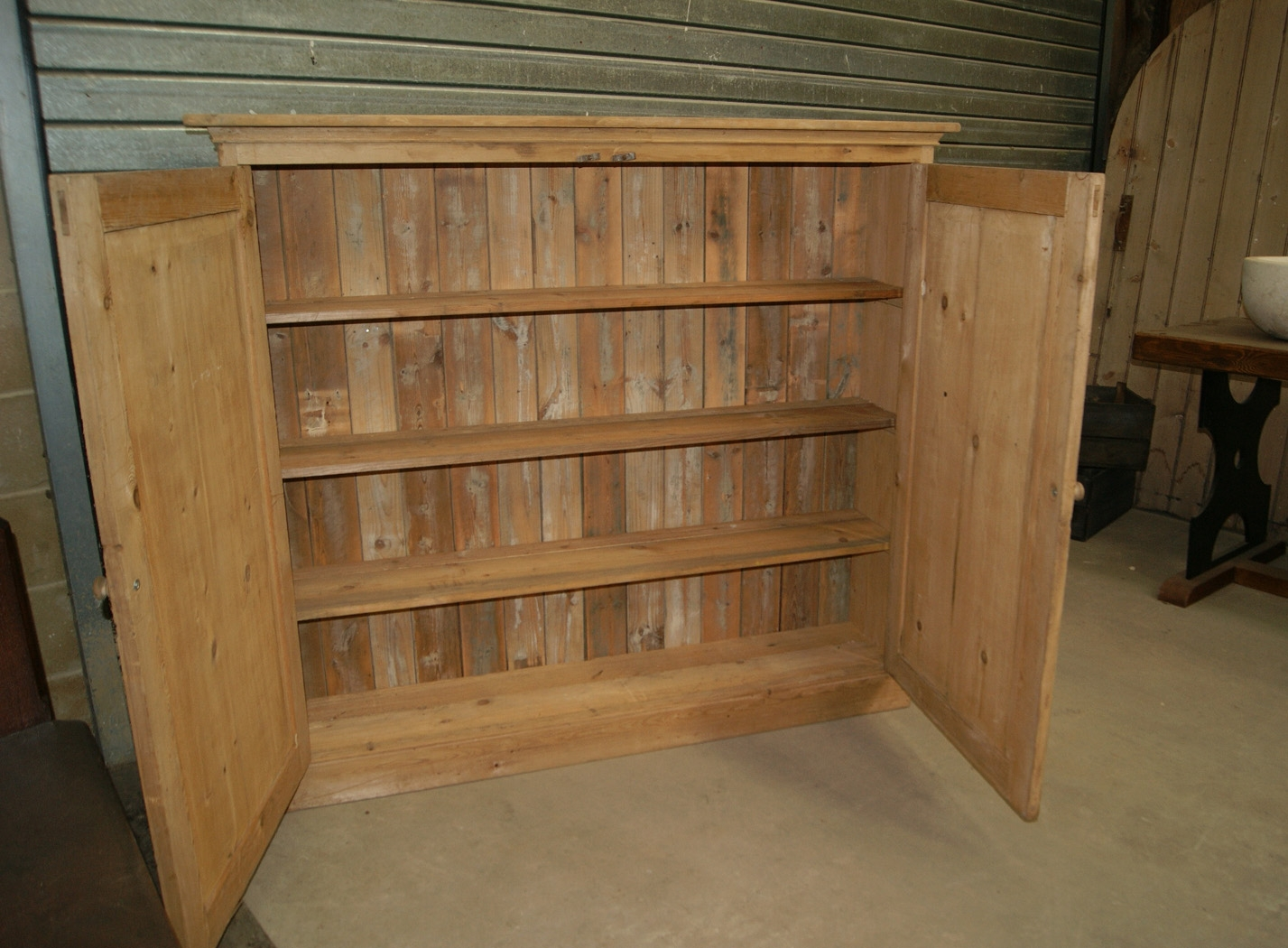 Winchcombe Reclamation Ltd Reclaimed Cabinets And Cupboards In Large Cupboard With Shelves (#15 of 15)