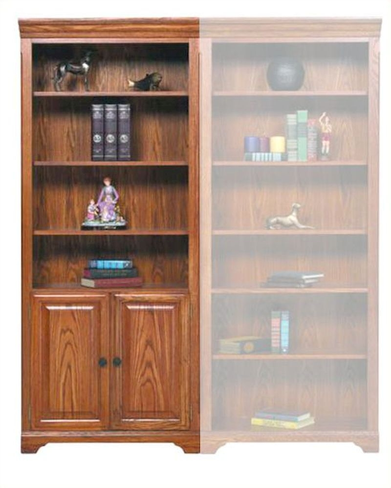Winners Only Bookcase With Doors And Shelves Wo Hm132bdr In Bookcase With Doors (View 14 of 15)